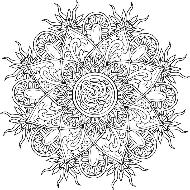 Mandalas A Colorier Creapassions