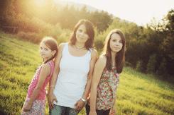 Ses 2 coeurs de filles