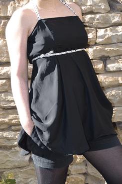Robe noire cousue main