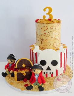 cake design île pirate