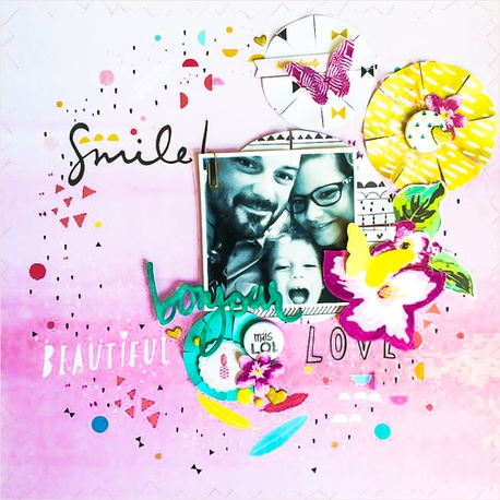 scrapbooking smile and love